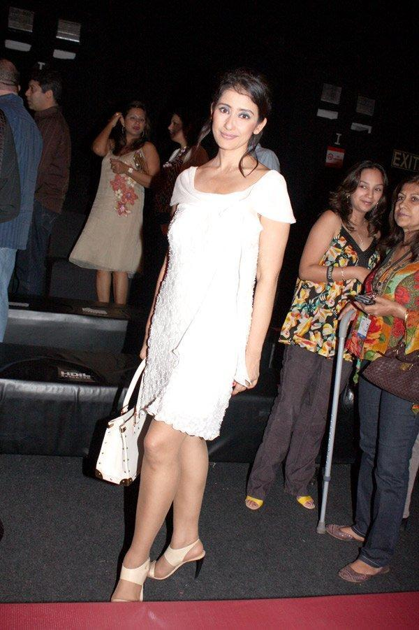 Manisha Koirala look hot in white dress