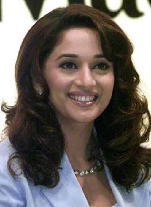 Madhuri Dixit Sexy Smile Pic
