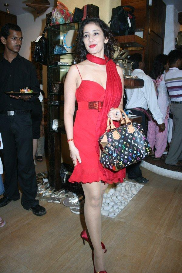 Manisha Koirala in red dress