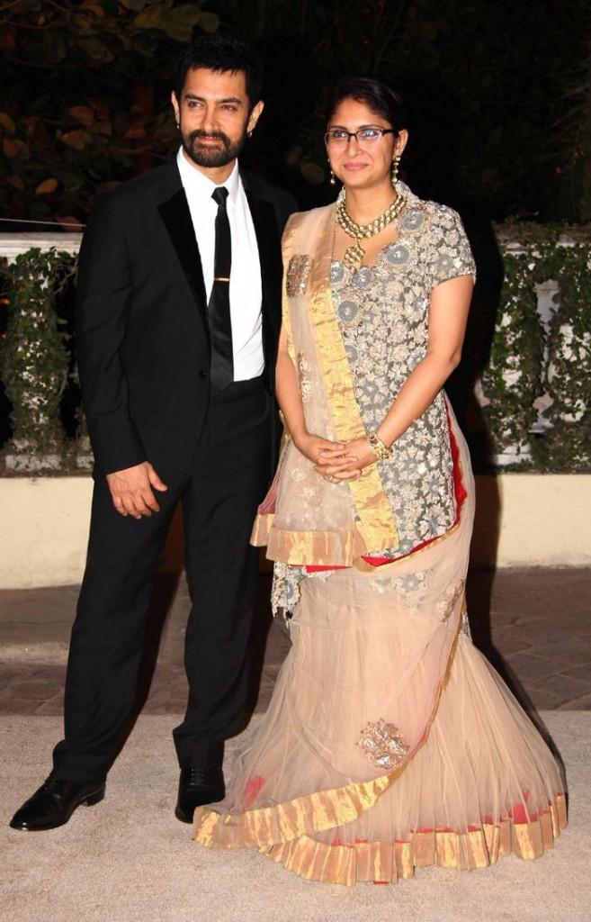 Aamir and Kiran at Imran Khan and Avantika Wedding