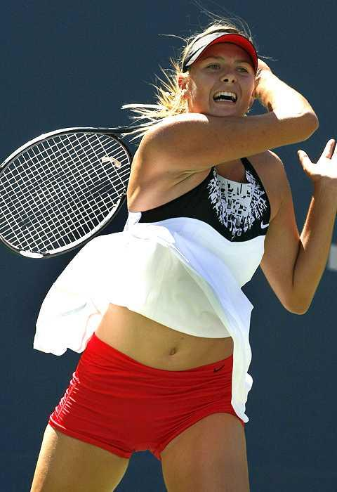 Maria Sharapova Navel Show Playing Still