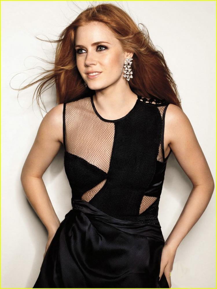 Amy Adams Black Color Dress Glamour Wallpaper