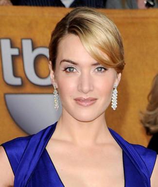 Kate Winslet Blue Dress Nice Photo
