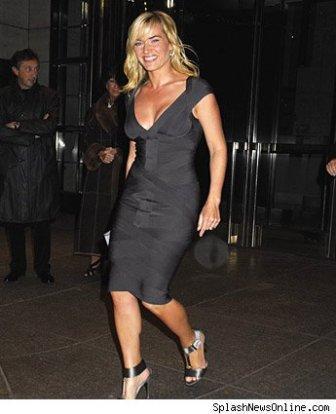 Kate Winslet Black Tight Dress Glamour Still