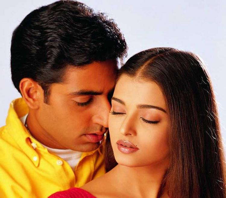 Abhishek Bachchan and Aishwarya's Romantic scene