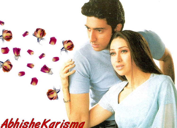Abhishek Bachchan with Karishma Kapoor