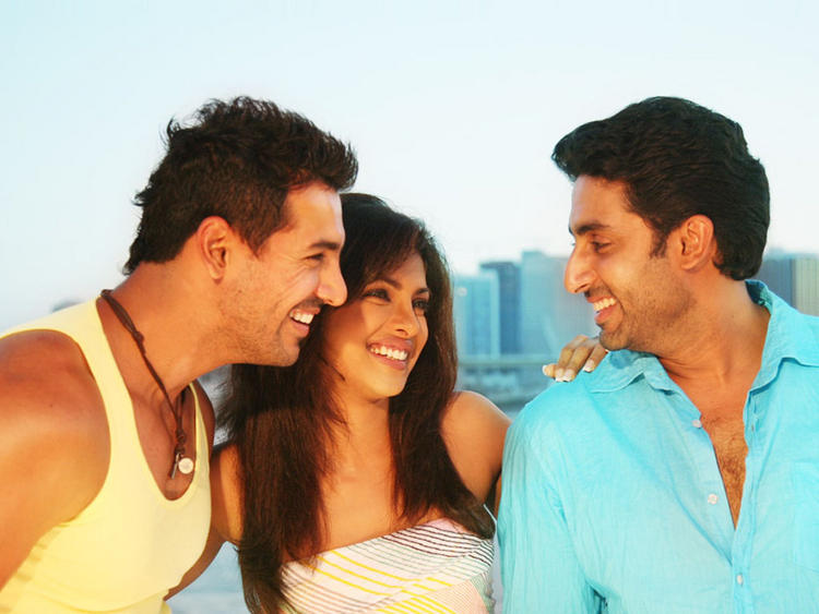 Priyanka Chopra with John Abraham and Abhishek Bachchan Still