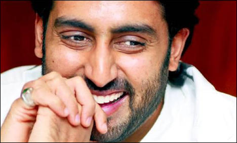 Abhishek Bachchan with open smile in Dum Maro Dum