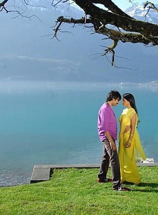 Ravi Teja and Shriya Don Seenu Romance Pic