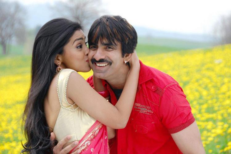 Shriya Kissing Ravi Teja