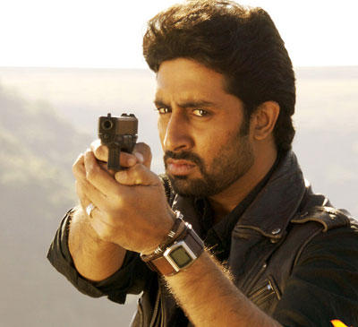 Abhishek Bachchan with Gun hot pics