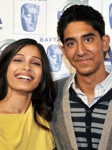 Dev Patel and Freida Pinto Smilling Face Still