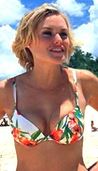 Laura Allen Bikini in Boob Photo