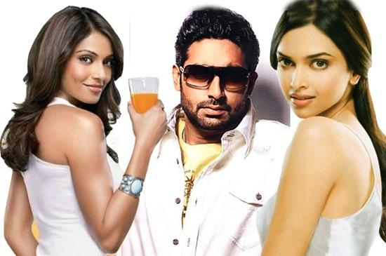 Abhishek,Bipasha and Deepika in Dum Maro Dum