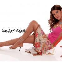 Hot Model Gauhar Khan Sexy Figure Show Wallpaper