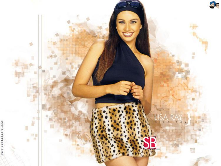 Lisa Ray Mini Dress Wallpaper