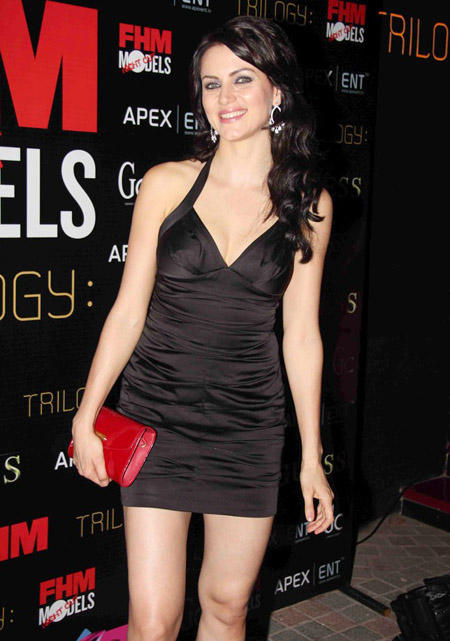 Yana Gupta Black Dress At FHM Launch