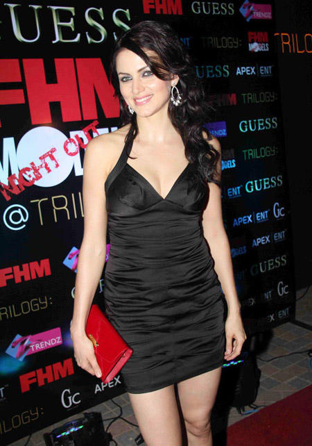 Yana Gupta Black Dress Sweet Smile Pic