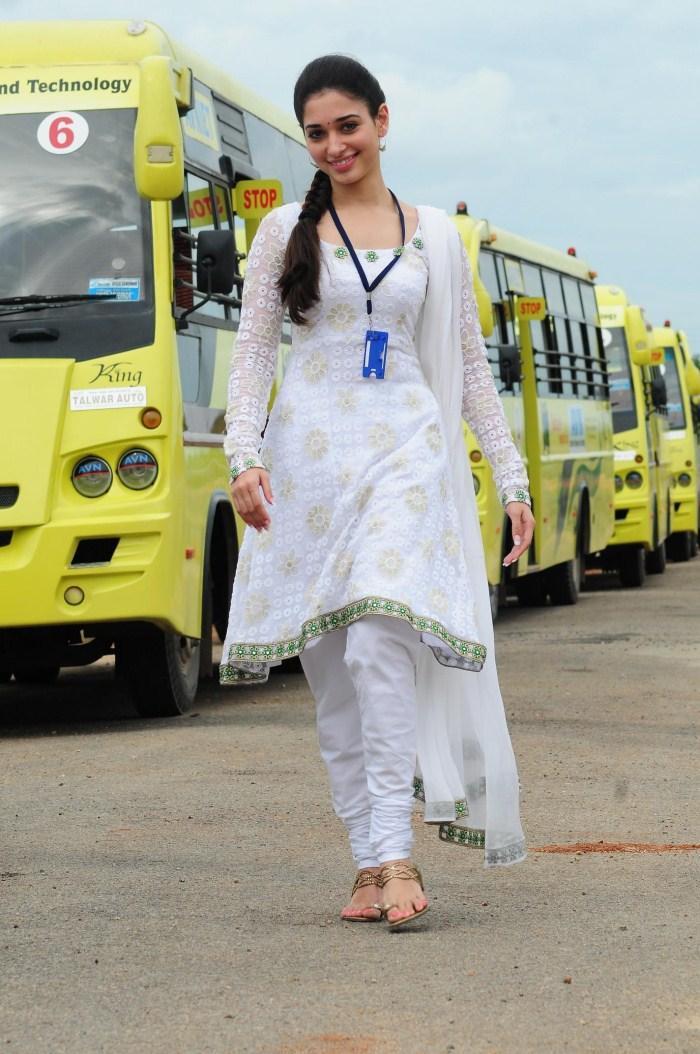 Gorgeous Tamanna in White Salwar Suit