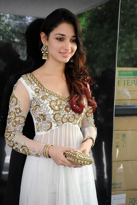 Tamanna Bhatia Sleevefull Dress Beauty Pic