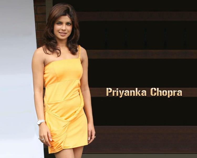 Priyanka Chopra Yellow Dress Gorgeous Wallpaper