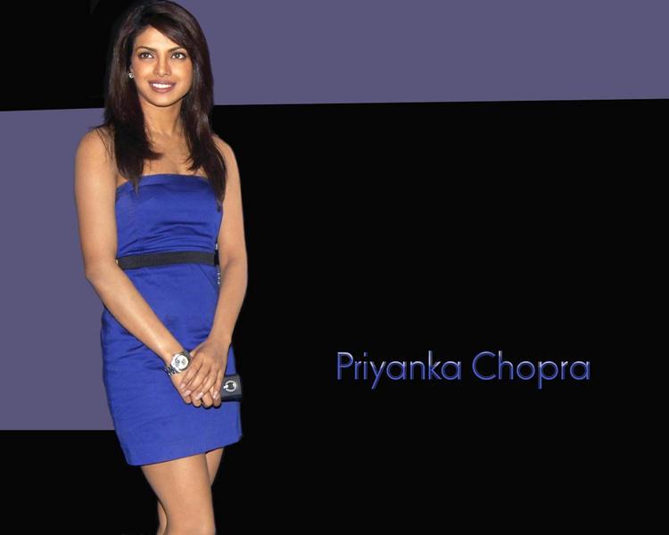 Priyanka Chopra Sleeveless Dress Wallpaper