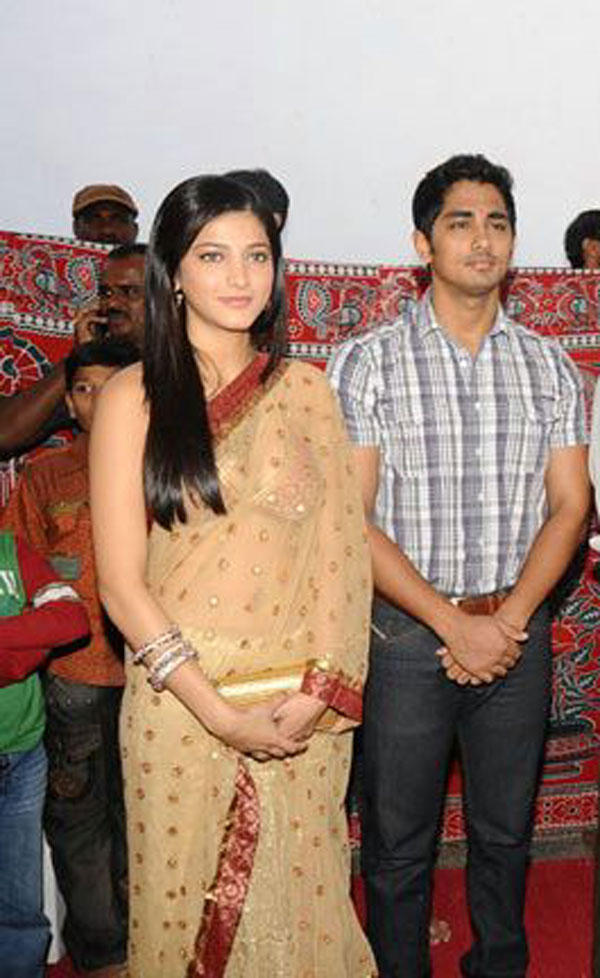 Shruti Hassan and Siddarth Still