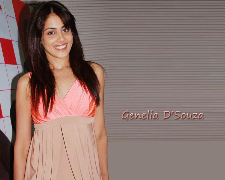Genelia D'souza  Sleeveless Dress Wallpaper