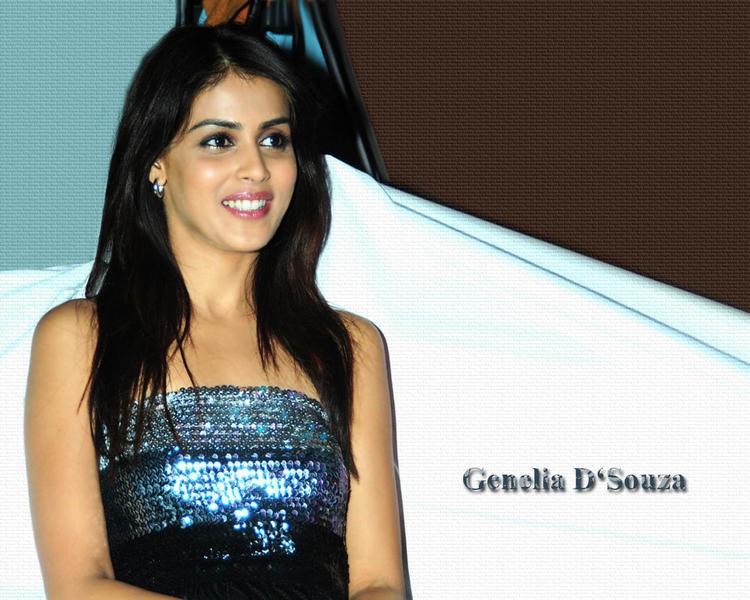 Sizzling Genelia D'souza Wallpaper