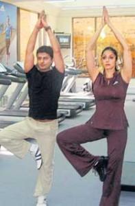 Sridevi Kapoor Yoga Still