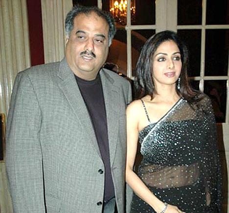 Sridevi Kapoor Black Color Transparent Saree Pic