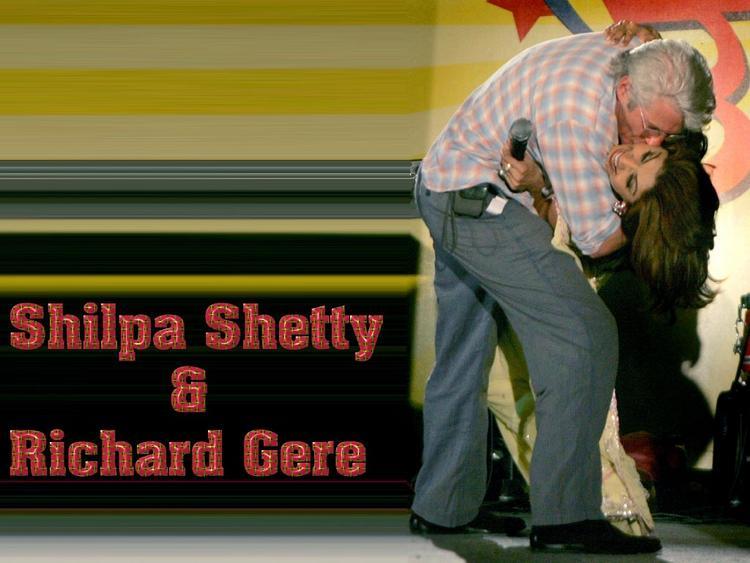 Shilpa Shetty with Richard Gere Pic