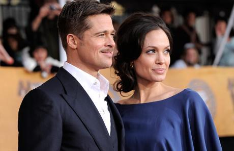 Brad Pitt and Angelina Jolie Public Photo