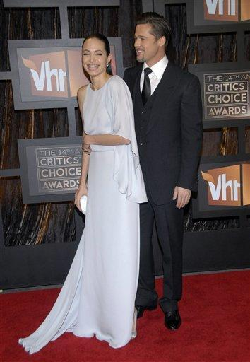 Angelina Jolie and Brad Pitt Glamour Still On Red Carpet
