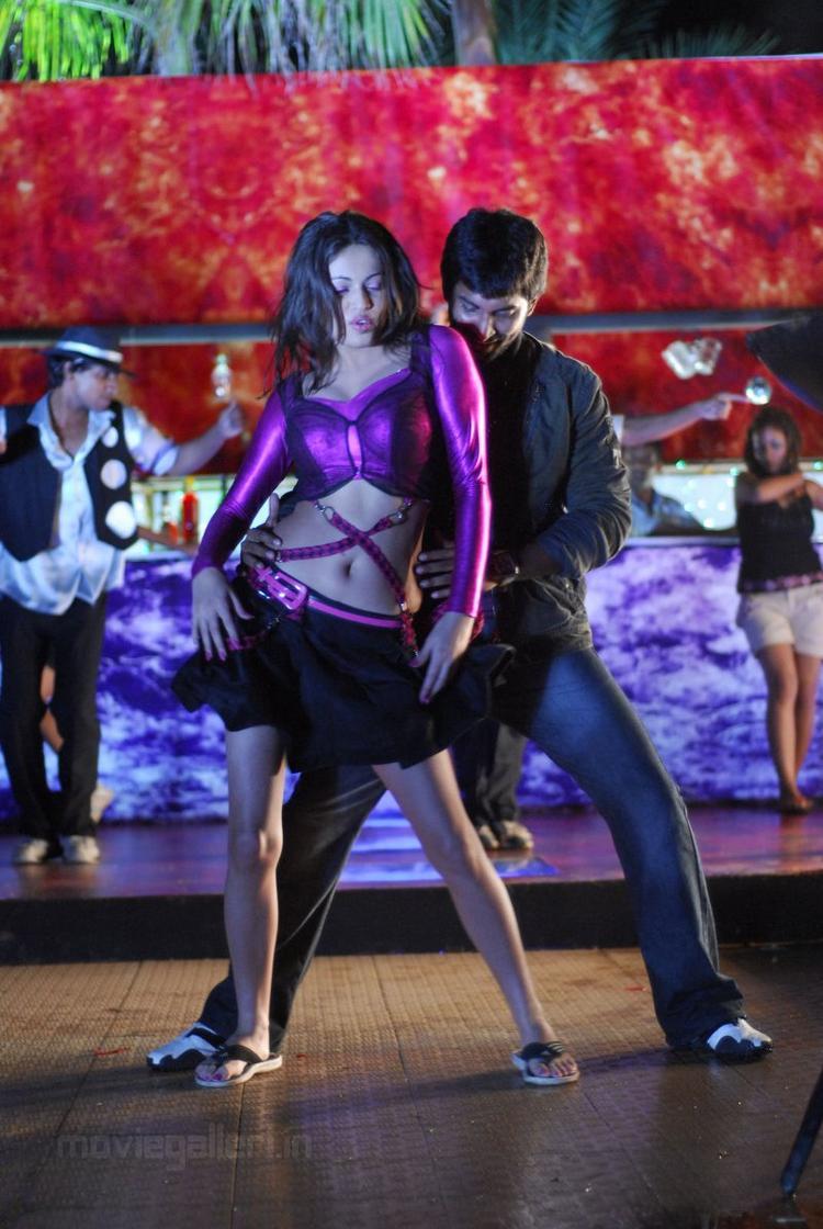 Ala Modalaindi Movie Sneha Ullal Sexy Dance Still