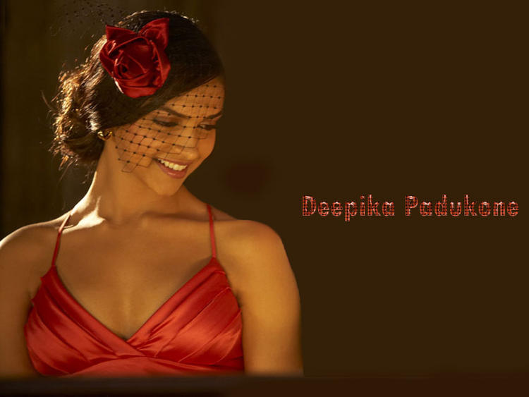 Deepika Padukone Red Dress sizzling Wallpaper