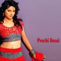 Prachi Desai Red Dress Hot Navel Pose Wallpaper