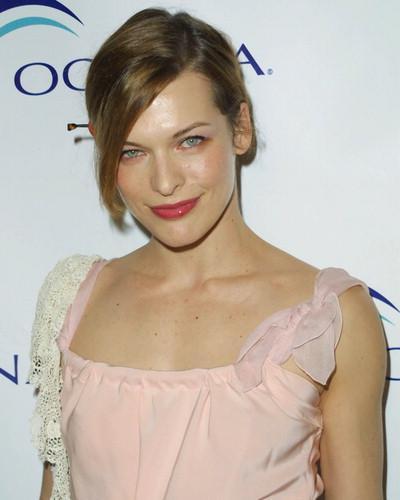 Milla Jovovich Pink Dress Cute Still
