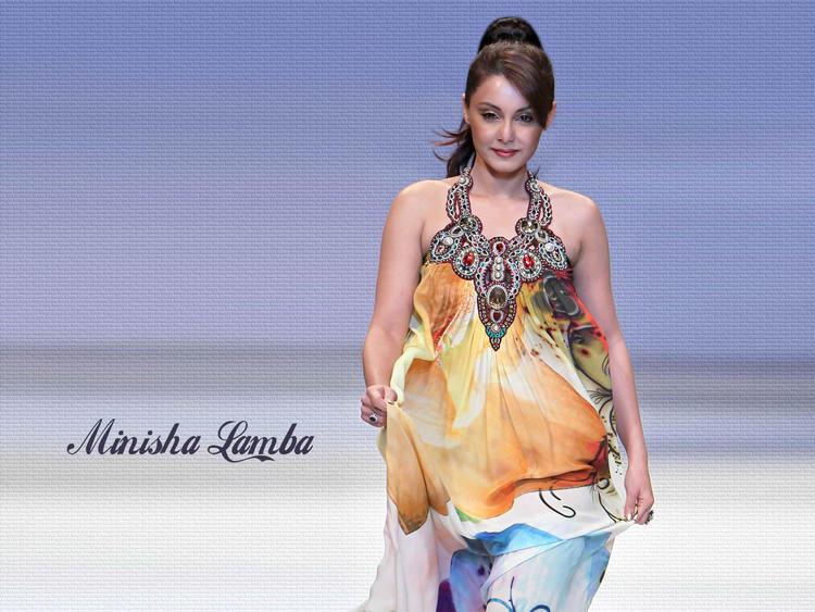 Minisha Lamba Beautiful Dress Wallpaper