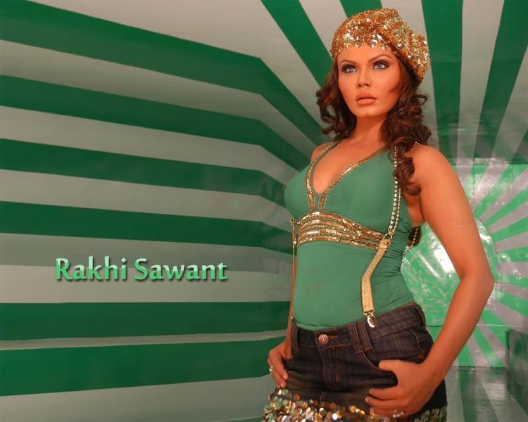Rakhi Sawant Mini Dress Hottest Wallpaper