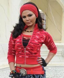 Rakhi Sawant Red Dress Cute Look