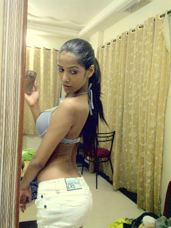 Poonam Pandey Hot Backless Strip
