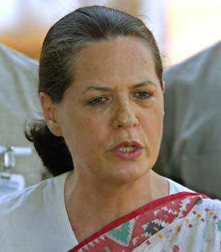 Leader of the Congress Sonia Gandhi Pic