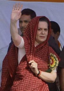Sonia Gandhi Simple Look Public Photo