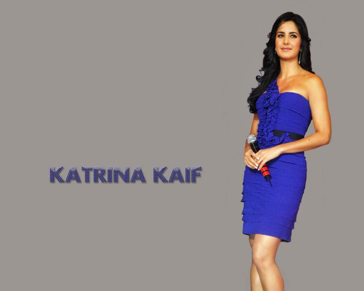 Katrina Kaif Blue Dress Awesome Wallpaper