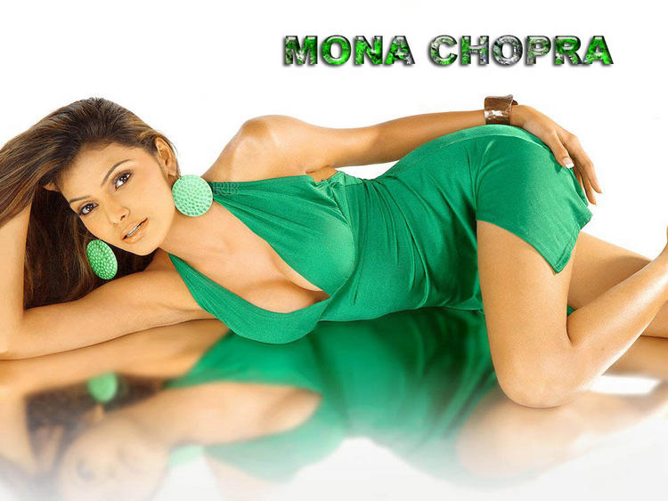 Mona Chopra Green Dress Hot Wallpaper