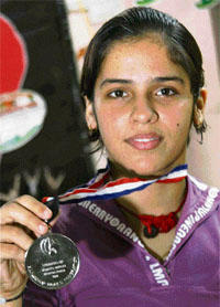 Saina Nehwal With Her Medal