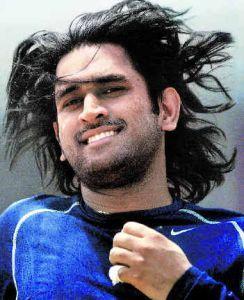 Mahendra Singh Dhoni Long Hair Running Still