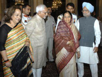 Pratibha Patil With Manmohan Singh