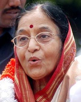 Indian President Pratibha Patil Public Photo